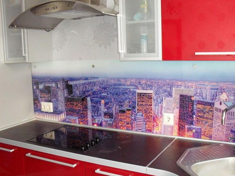 Фото на стекле для кухни